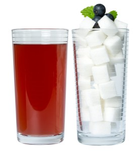 Sweet drinks contain huge amounts of sugar