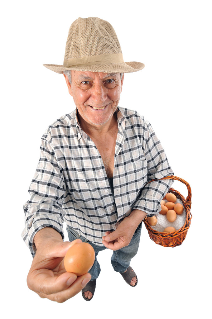 farmer old man in studio